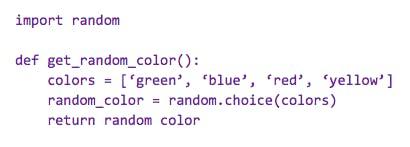 Python syntax example