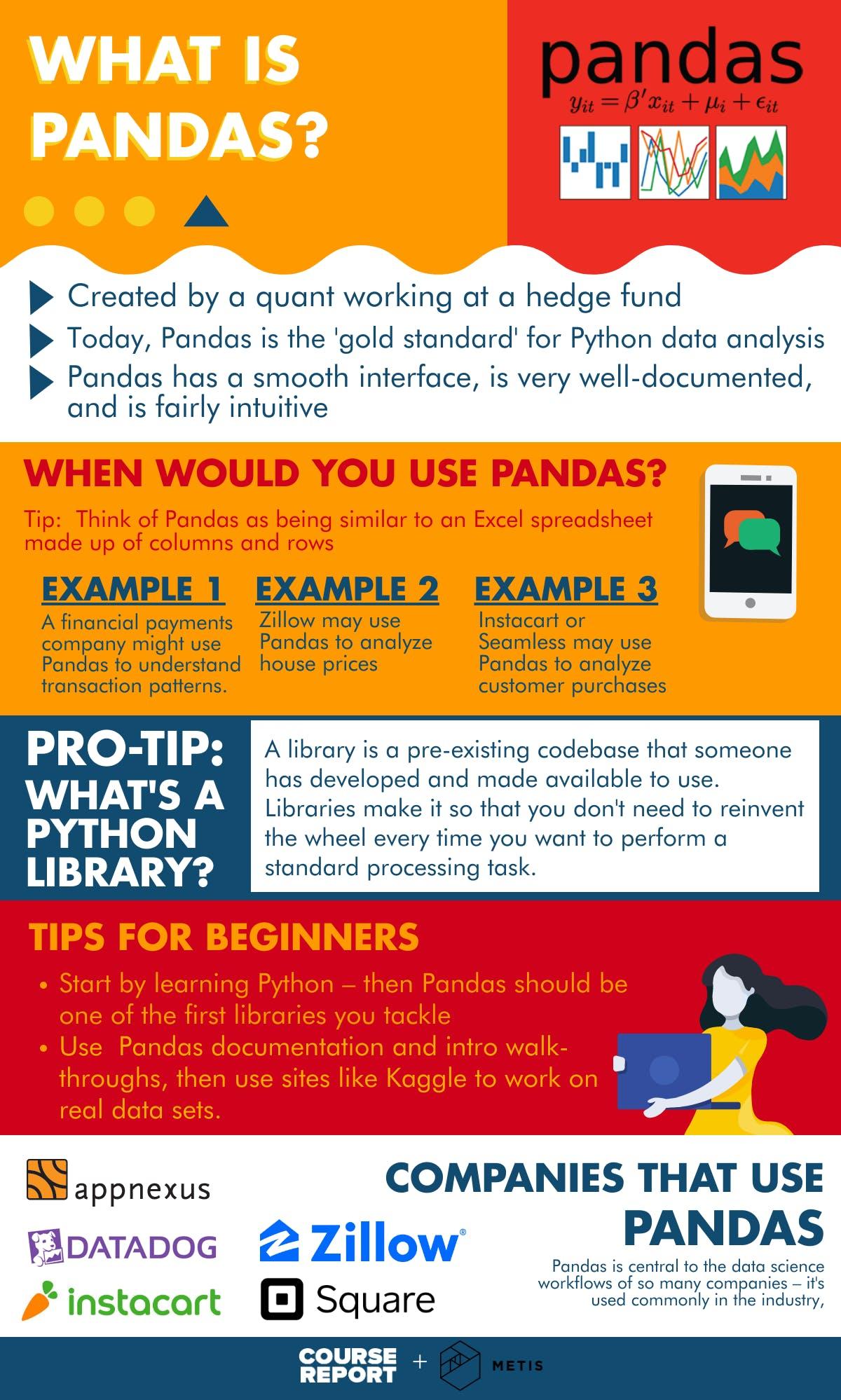 Pandas guide infographic metis
