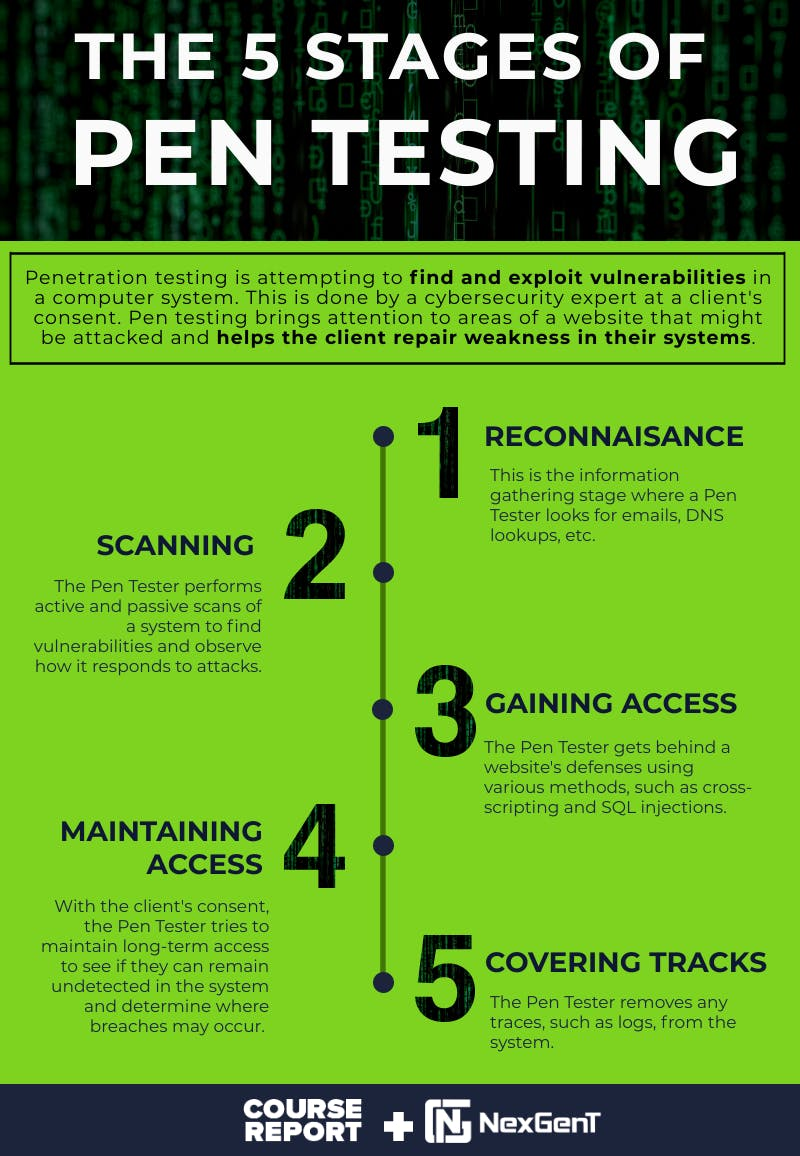 Nexgent what is pen testing infographic